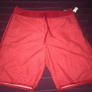 Old Navy Mens Board Shorts (red/burgundy)  Large